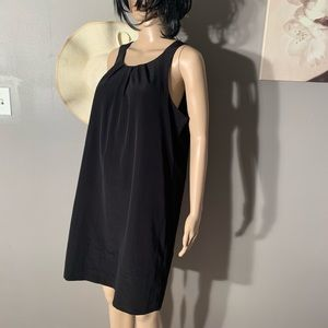 Oleg Cassini Size 12 Halter Black Dress Length 36""